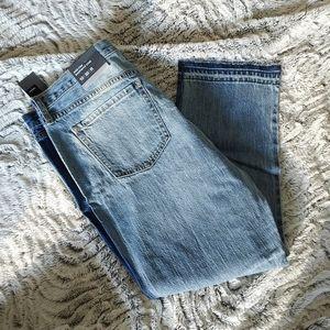 NWT Mossimo Tuxedo Boyfriend Cropped Jeans size 10